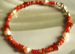 Affirmations-Armband orange-rot