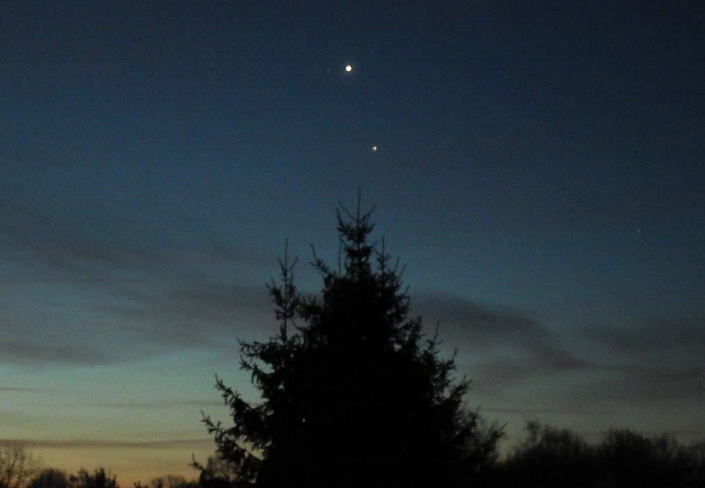 Venus-Jupiter-Konjunktion