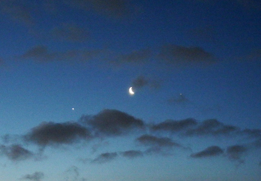 Venus-Mond-Jupiter