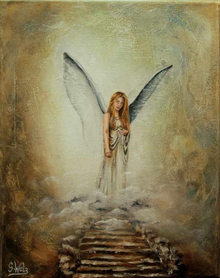 """Ölbild """"Engel der Intuition"""""""